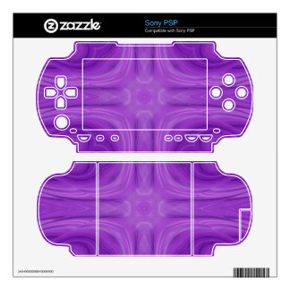 Purple Blue stylish wood pattern Decal For The Sony PSP