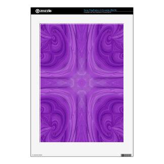 Purple Blue stylish wood pattern Skin For PS3