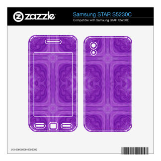 Purple Blue stylish wood pattern Samsung STAR S5230C Skin