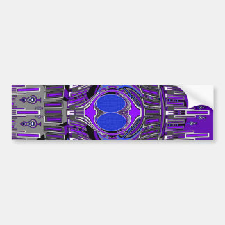 Purple blue superfly design car bumper sticker