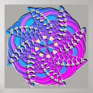 Purple Blue Swirl - Poster