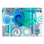 Purple Blue Swirls Card