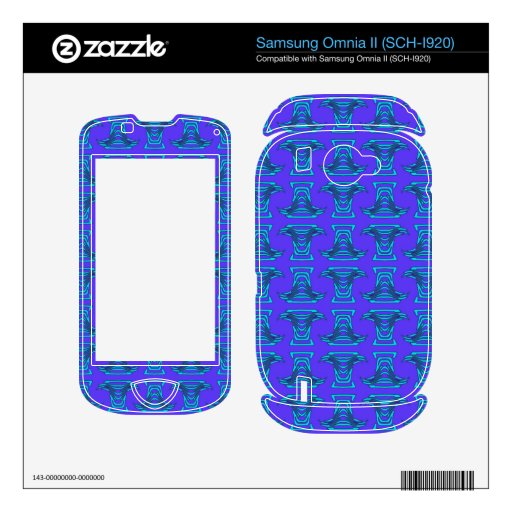 Purple Blue Tiki Pattern Samsung Omnia II Skin