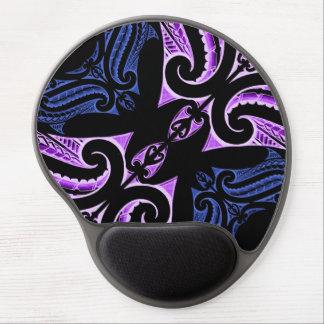 Purple blue traditional Maori tattoo design Gel Mouse Pad