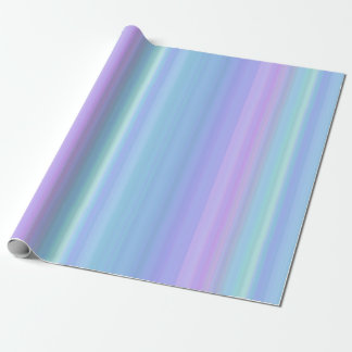 Purple Blue Turquoise Green Pastel Wrapping Paper