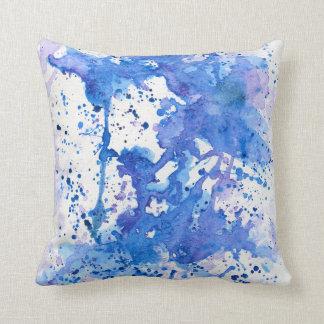 Blue Purple Throw Pillows : Paint Splatter Pillows - Decorative & Throw Pillows Zazzle