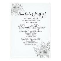 Purple & Blue Watercolor Bachelor Party Invites