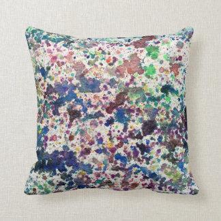 Purple Blue Watercolor Background Texture Design Throw Pillow