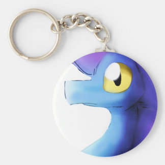 Purple/Blue Watercolor Dragon 1 Keychain