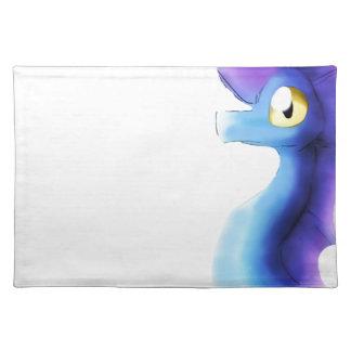 Purple/Blue Watercolor Dragon 1 Cloth Place Mat