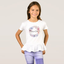 Purple & Blue Wildflowers T-Shirt (FLOWER GIRL)