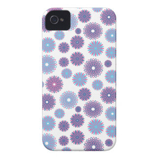 Purple Blue Winter Snowflakes Christmas Pattern iPhone 4 Cover