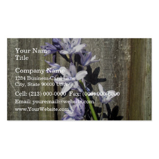 Purple Bluebell against old gate Double-Sided Standard Business Cards (Pack Of 100)