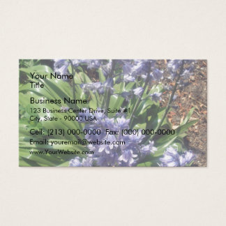 Purple Bluebells in full bloom Business Card