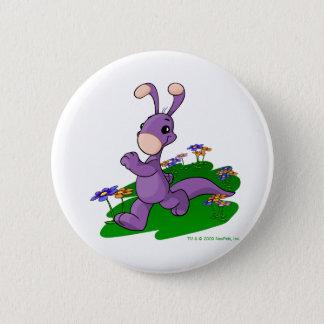 Purple Blumaroo marching through Roo Island Button