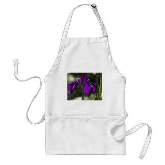 Purple Bog Iris with Bokeh Background Adult Apron