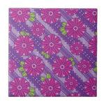 Purple Boho Blossoms Tile