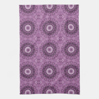 Purple Boho Chic Abstract Kaleidoscope Kitchen Towel