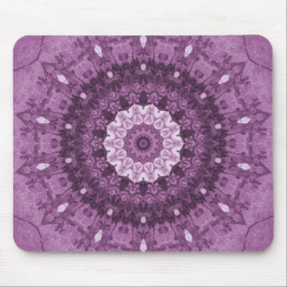 Purple Boho Chic Abstract Kaleidoscope Mouse Pad