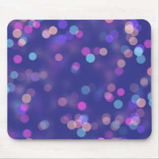 Purple Bokah lights Mouse Pad