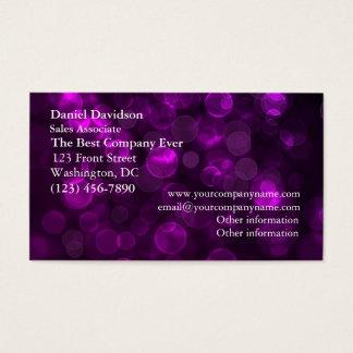 Purple Bokeh Business Card