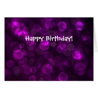 Purple Bokeh Card