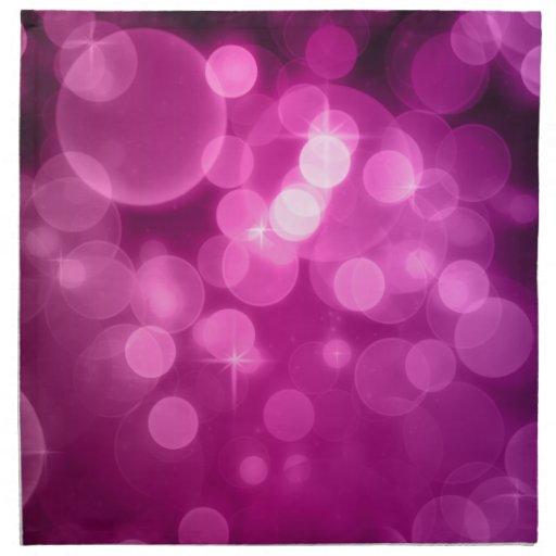 Purple Bokeh Cloth Napkins