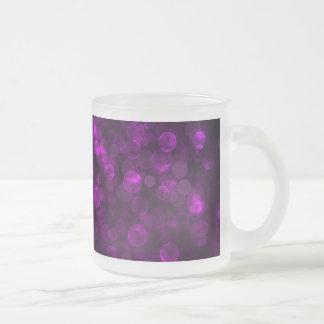 Purple Bokeh Frosted Glass Coffee Mug