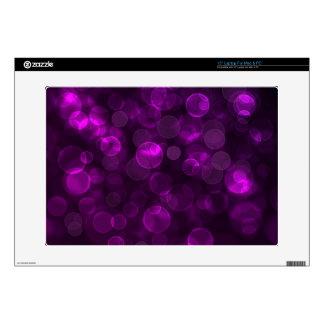Purple Bokeh Laptop Skins