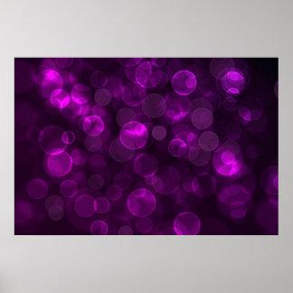 Purple Bokeh Print