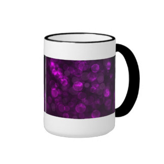 Purple Bokeh Ringer Mug