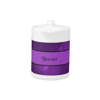 Purple Bokeh Teapot