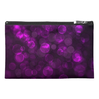 Purple Bokeh Travel Accessories Bag