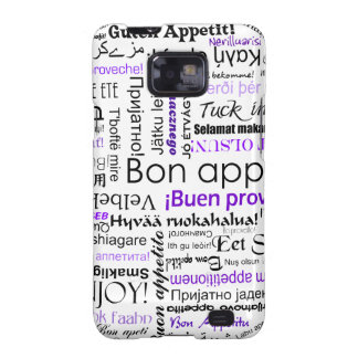 Purple Bon appetit in many languages Galaxy S2 Cover