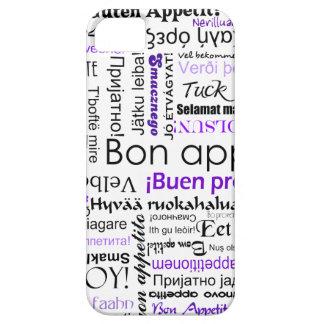 Purple Bon appetit in many languages iPhone SE/5/5s Case