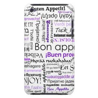 Purple Bon appetit in many languages iPod Case-Mate Case
