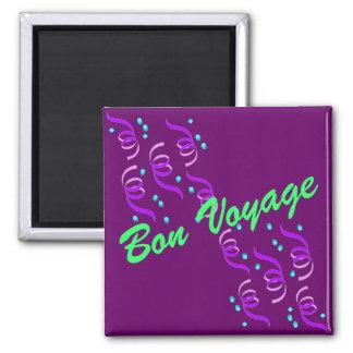 Purple Bon Voyage P1M 2 Inch Square Magnet