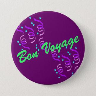 Purple Bon Voyage P2B Pinback Button