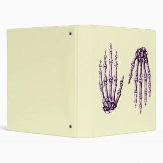 Purple Bones of the Hands, One up One down Binder