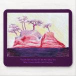 Purple Bonsai Island Mousepad