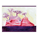 Purple Bonsai Island Post Card