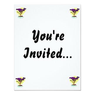 Purple Bonsai Upright Graphic Image Personalized Invitations