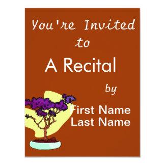 Purple Bonsai Upright Graphic Image Personalized Invite