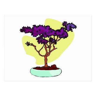 Purple Bonsai Upright Graphic Image Postcard