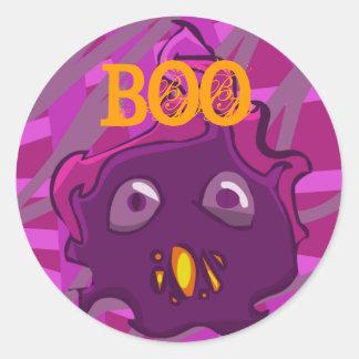 Purple BOO Sticker