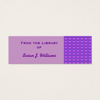 Purple book design mini business card