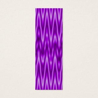 purple bookmark mini business card