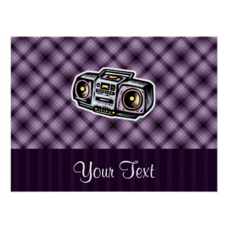 Purple Boombox Print