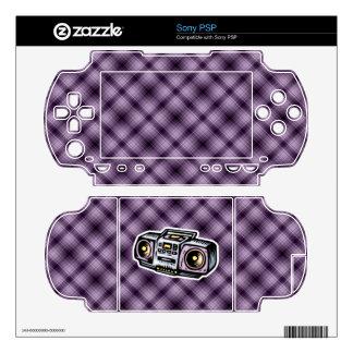 Purple Boombox Sony PSP Decals