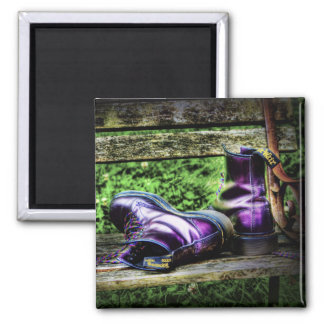 Purple Boots magnet